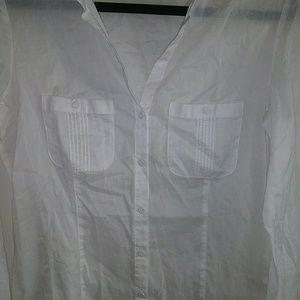 White House Black Market Tops - White House Black Market Long Blouse Shirt Large